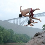 Post climb swim at New River Gorge II